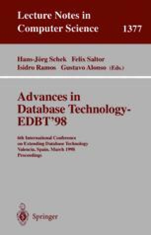 Advances in Database Technology — EDBT'98