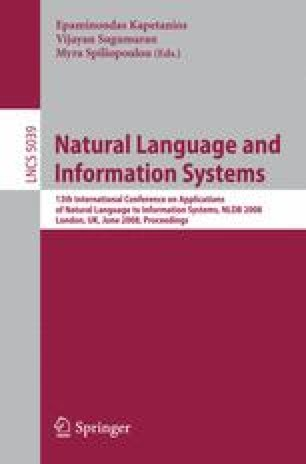Natural Language and Information Systems
