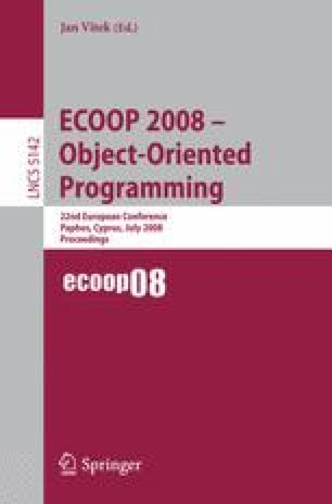ECOOP 2008 – Object-Oriented Programming