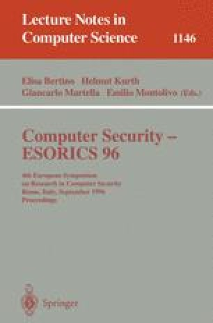 Computer Security — ESORICS 96