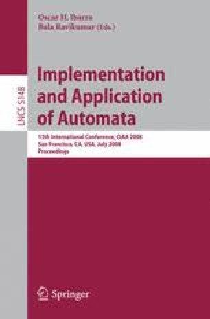 Implementation and Applications of Automata