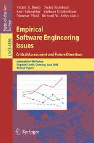Empirical Software Engineering Issues. Critical Assessment and Future Directions