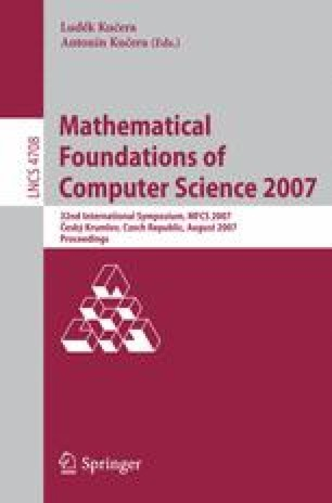 Mathematical Foundations of Computer Science 2007