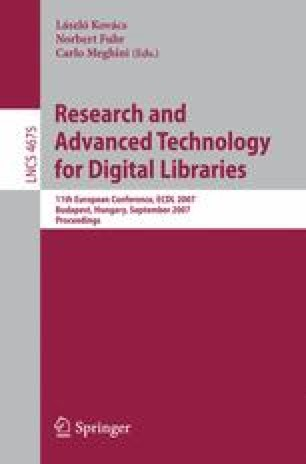 Research and Advanced Technology for Digital Libraries
