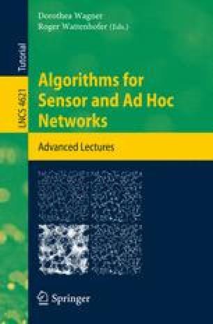Algorithms for Sensor and Ad Hoc Networks
