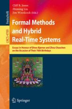 Formal Methods and Hybrid Real-Time Systems