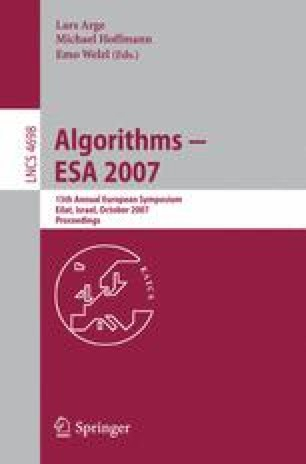 Algorithms – ESA 2007