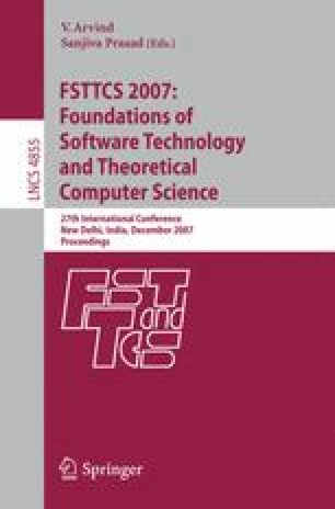 FSTTCS 2007: Foundations of Software Technology and Theoretical Computer Science
