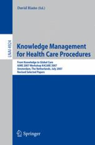Knowledge Management for Health Care Procedures