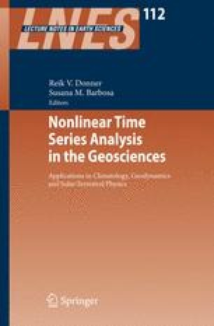 Nonlinear Time Series Analysis in the Geosciences