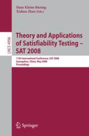 Theory and Applications of Satisfiability Testing – SAT 2008