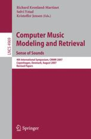 Computer Music Modeling and Retrieval. Sense of Sounds