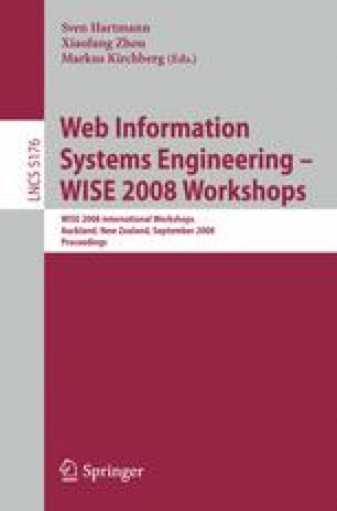 Web Information Systems Engineering – WISE 2008 Workshops