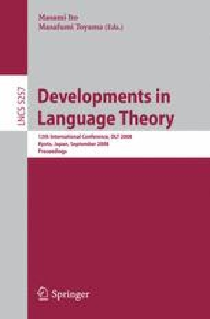 Developments in Language Theory