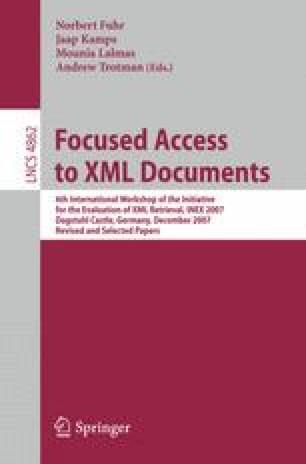Focused Access to XML Documents