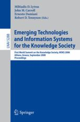 Emerging Technologies and Information Systems for the Knowledge Society