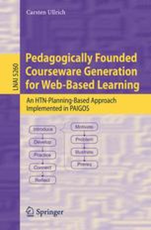Pedagogically Founded Courseware Generation for Web-Based Learning
