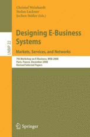 Designing E-Business Systems. Markets, Services, and Networks