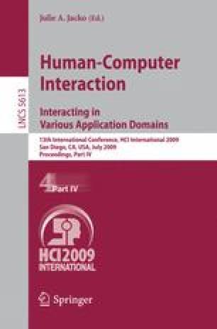 Human-Computer Interaction. Interacting in Various Application Domains