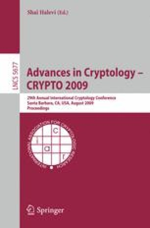 Advances in Cryptology - CRYPTO 2009