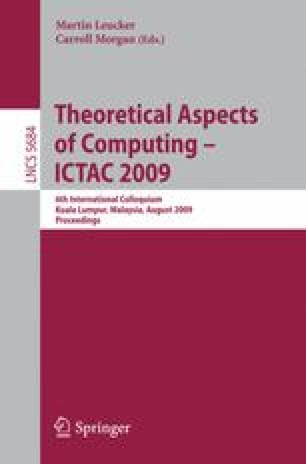 Theoretical Aspects of Computing - ICTAC 2009