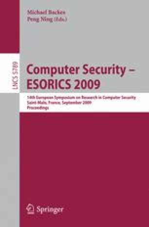 Computer Security – ESORICS 2009
