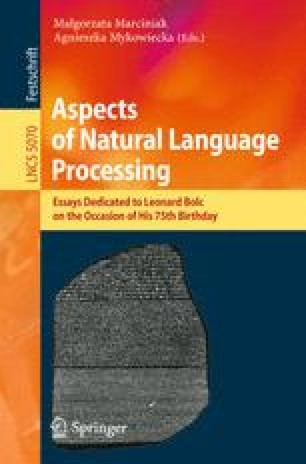 Aspects of Natural Language Processing