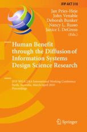 Human Benefit Through The Diffusion Of Information Systems Design Science Research Springerlink
