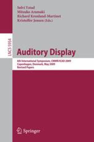 Auditory Display | SpringerLink