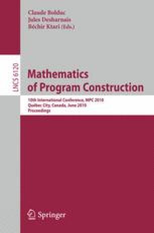 Mathematics of Program Construction