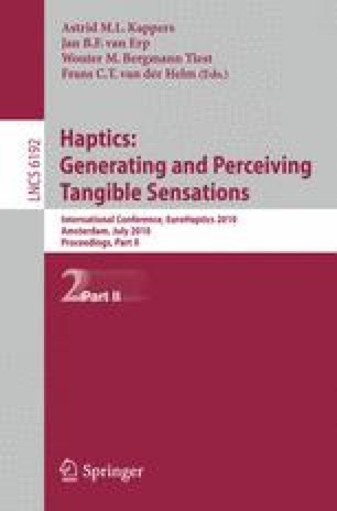Haptics: Generating and Perceiving Tangible Sensations