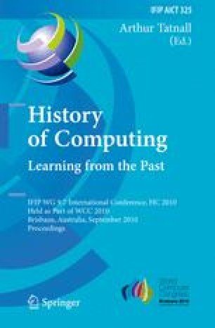 History of Computing. Learning from the Past