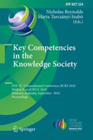 Key Competencies in the Knowledge Society