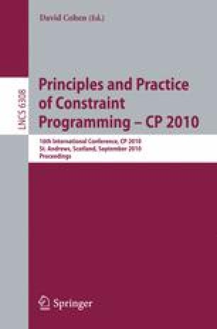 Principles and Practice of Constraint Programming – CP 2010