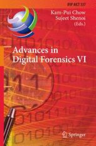 Advances in Digital Forensics VI