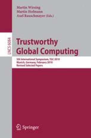 Trustworthly Global Computing