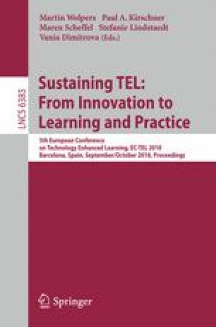 Sustaining TEL: From Innovation to Learning and Practice