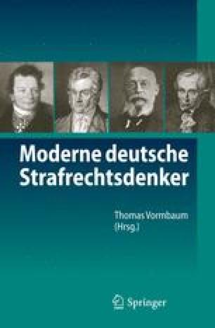 Moderne deutsche Strafrechtsdenker