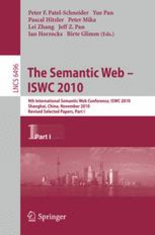The Semantic Web – ISWC 2010