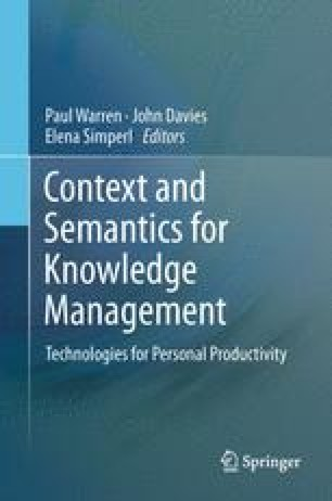 Context and Semantics for Knowledge Management