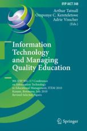 Information Technology and Managing Quality Education