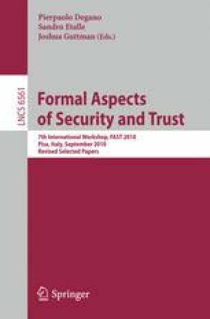 Formal Aspects of Security and Trust