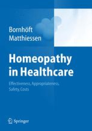 Cost-effectiveness of Homeopathy | SpringerLink