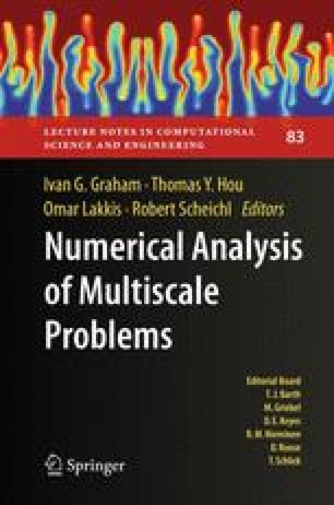Numerical Analysis of Multiscale Problems