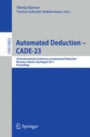 Automated Deduction – CADE-23