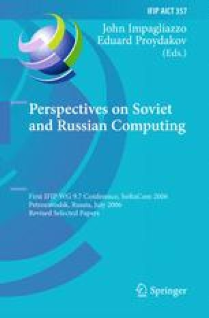 Perspectives on Soviet and Russian Computing