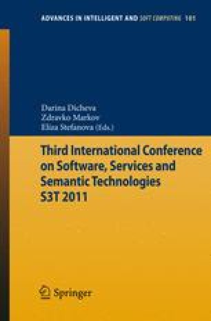 Third International Conference on Software, Services and Semantic Technologies S3T 2011
