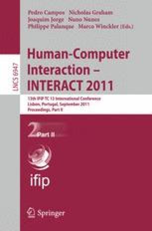 Human-Computer Interaction – INTERACT 2011
