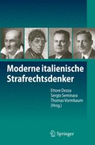 Moderne italienische Strafrechtsdenker