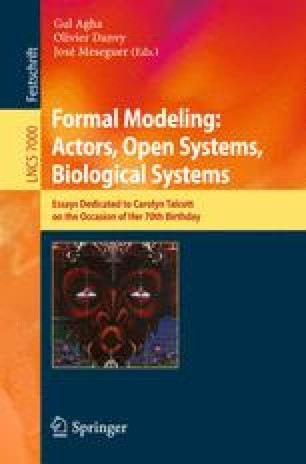 Formal Modeling: Actors, Open Systems, Biological Systems